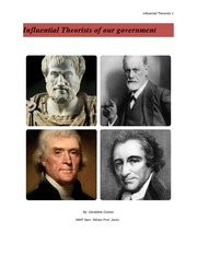 Influential Theorists of our government system final