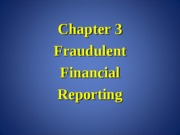 Forensic Accounting Chapter 3