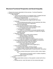 Structural Functional Perspective and Social Inequality