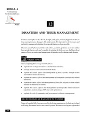 12_Disasters and their Management