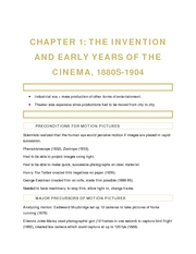 Chapter 1 - The Invention and Early Years of the Cinema (1880s - 1904)
