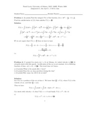 Calculus 1 - Assignment 3 Solutions