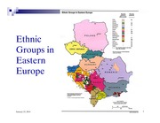 Maps showing ethnic patterns in different regions