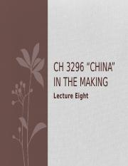 CH3296 Lecture 8