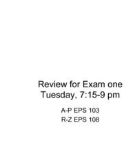 07a - Review for Exam 1