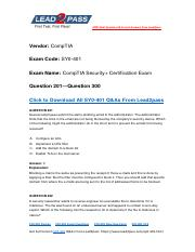 Updated Lead2pass CompTIA SY0-401 Braindump Free Download (201-300).pdf