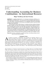 Business Combinations - IAE 2007 Case