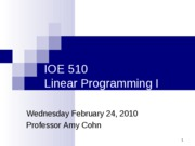 IOE510+Lecture+02+24+10+Wed
