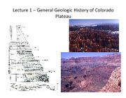 geol 410 lecture 1 - General History of Colorado Plateau 13w