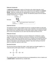 Chpt 3 - Molecular Compounds - Study Notes