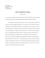 late assignment essay