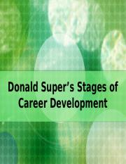 Super's Stages of Career Development