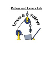 Pulleys and Levers Lab Cover Page