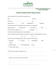 Student Employment Application-2