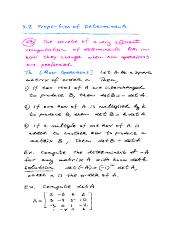 NOTES for Math-250 Sect.-3.2 Properties of Determinants