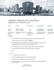 Landstar weekly report 11-18-13 to 11-22-13.docx