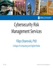 [DePaul] - Cybersecurity Risk Management [112016].pdf