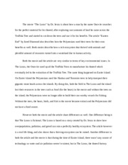 APES LORAX AND EASTER ISLAND ESSAY