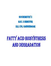 9. Fatty Acid synthesis and degradation.pdf