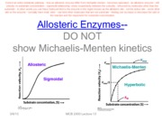 Lecture 13 Allosteric Enzymes--BW