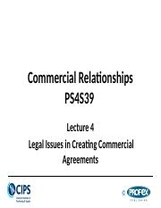 Lecture 4  - Legal Issues in Creating Commercial Agreements.pptx