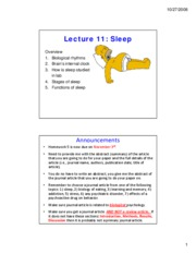 lecture 11 sleep