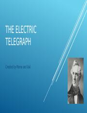 THE ELECTRIC TELEGRAPH.pptx
