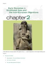 chapter 2. Early Societies In Southwest Asia And The Indo-European Migrations