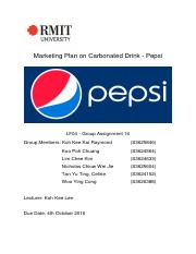 Marketing Principles Group Report - Pepsi