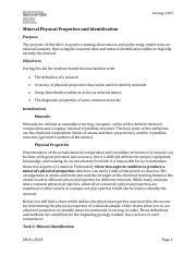 Mineral Identification Gizmo.doc - Name Jordynn Quinn Date ...