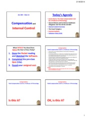 Powerpoint - Compensation and Internal Control