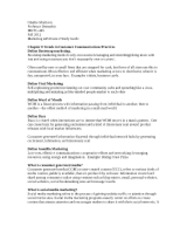 Marketing 445 Exam 2 Study Guide