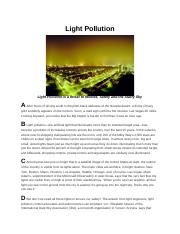 Light Pollution.docx