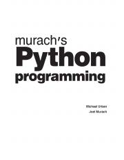 Murach's Python programming _ beginner to  (2016).pdf