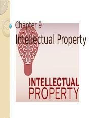 Chapter 9 - Intellectual Property