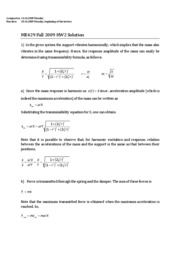 ME429 Fall 2009 HW2 Solution