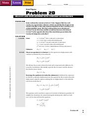 PWbk2D - Lesson Menu Print NAME DATE CLASS Holt Physics Problem 2D