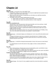 Study Guide - Chapter 14
