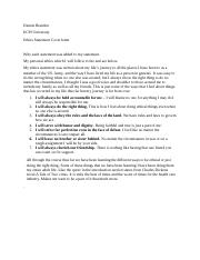 Ethics statement cover letter
