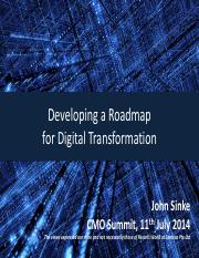 developingaroadmapfordigitaltransformation-johnsinke-140713204139-phpapp01(1)