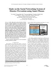 Study on the Social Networking System of Disaster Prevention using Smart Phones