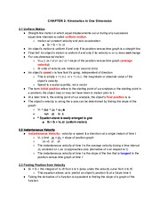 Physics CH.2Notes