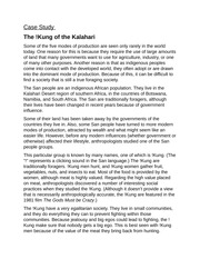 Unit 3 - The !Kung of the Kalahari (case study)