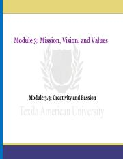 Module 3.3_Creativity and Passion
