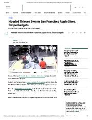 Hooded Thieves Swarm San Francisco Apple Store, Swipe Gadgets _ The Huffington Post