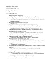 interview questions first draft
