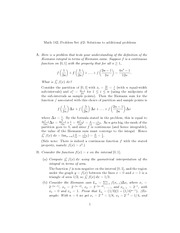 Problem Set 2 Solution to Additional Problems