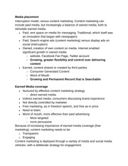 Indirect Content Marketing notes