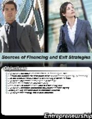 L5-Sources of Financing and Exit Strategies-BA-311