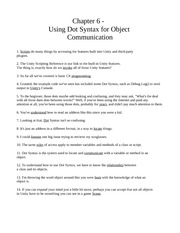 Chapter Six - Using Dot Syntax for Object Comunication
